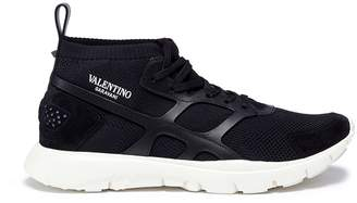 Valentino 'Sound High' patchwork sneakers