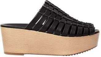 Rick Owens 70mm Country Leather Wedge Mules