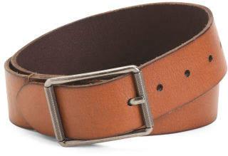 Men's Burnished Leather Belt