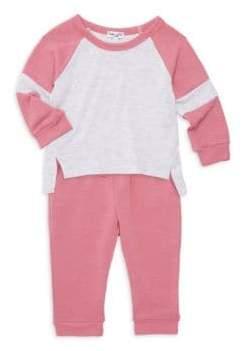 Splendid Baby Girl's Two-Piece Raglan Tee& Joggers Set - Rose Tweed - Size 18-24 Months