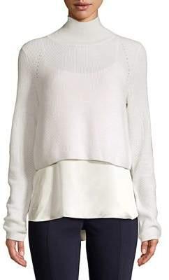 Elie Tahari Casper Layered Cashmere-Silk Sweater