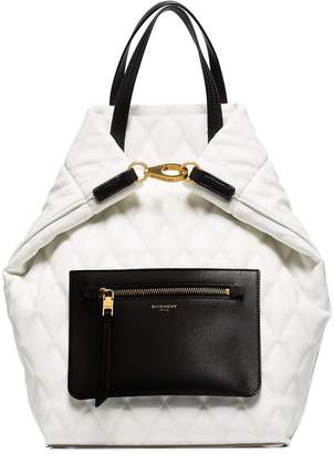 Givenchy pouch-pocket quilted backpack