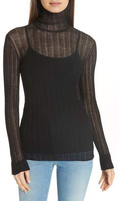 Theory Lory Sheer Turtleneck