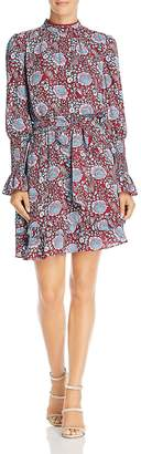 Rebecca Minkoff Belinda Long-Sleeve Floral-Print Dress