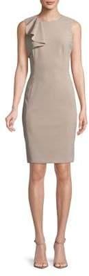 Calvin Klein Ruffled Sleeveless Sheath Dress