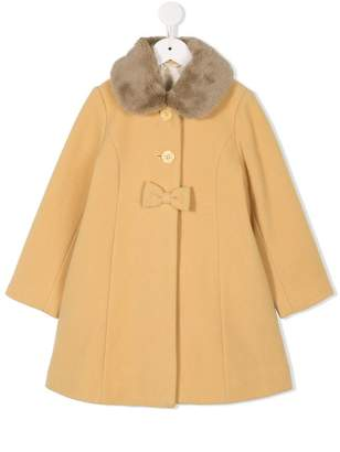 Mikihouse Miki House faux-fur collar coat