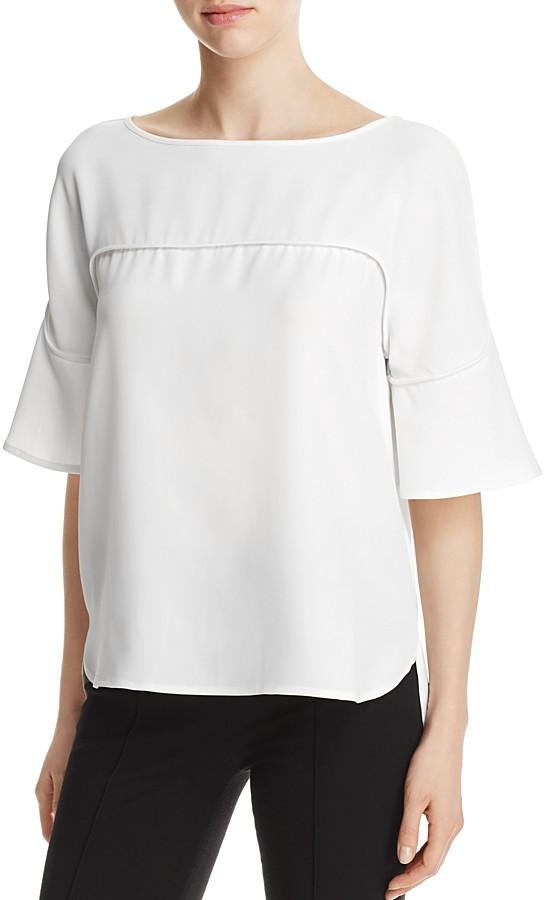 Calvin Klein Flutter Sleeve Top - 100% Exclusive