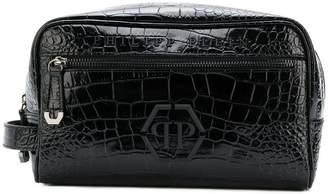 Philipp Plein logo wash bag