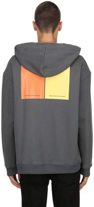 Raf Simons Printed Cotton Jersey Sweatshirt Hoodie