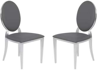 Armen Living Cielo Contemporary Dining Chairs, Set of 2