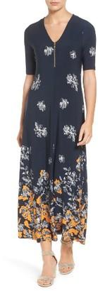 Women's Chaus Floral Border Print Midi Dress $109 thestylecure.com
