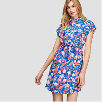 Joe Fresh Women's Floral Print Shirt Dress