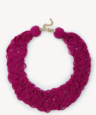 Sole Society Womens Braided Beaded Necklace Magenta One Size From Sole Society LjAHeQ9EQa