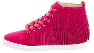 Christian Louboutin Frangine Fringe Sneakers w/ Tags