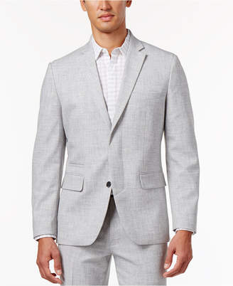 Inc International Concepts Men's Slim-Fit Grey Chambray Blazer, Created for Macy's $129.50 thestylecure.com