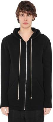 Rick Owens Zip Wool & Yak Knit Sweatshirt Hoodie