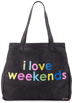 Peace Love World Graphic Oversized Canvas Tote Bag