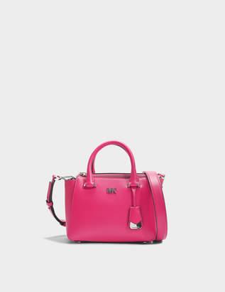 MICHAEL Michael Kors Nolita Mini Messenger Bag in Ultra Pink Leather