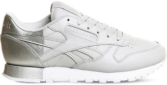 REEBOK Classic lace-up leather trainers $79 thestylecure.com