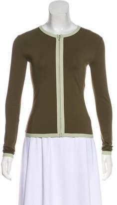 Chanel Long Sleeve Zip-Up Top