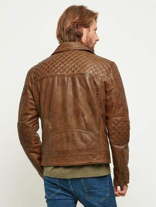 Tan Leather Biker