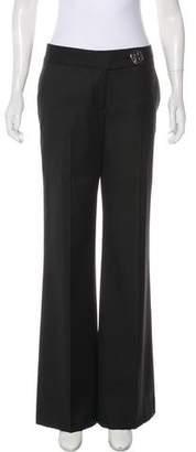 Tory Burch Wool-Blend Mid-Rise Pants