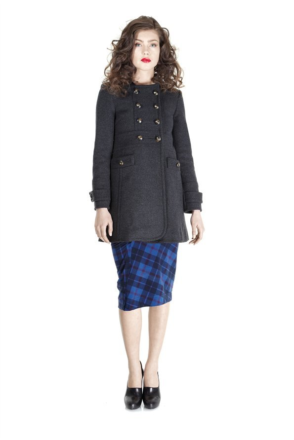 Marc by Marc Jacobs Nicoletta Double Breasted Wool Coat