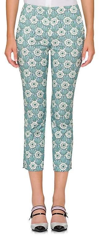 Prada Women's Floral Cotton Poplin Crop Pants
