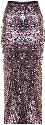 McQ Sequin-embellished Long Skirt