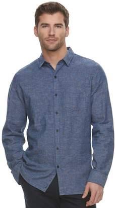 Marc Anthony Men's Slim-Fit Linen-Blend Stretch Button-Down Shirt