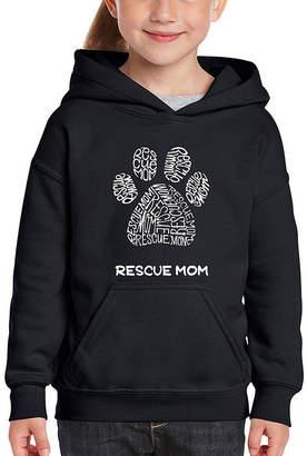 LOS ANGELES POP ART Los Angeles Pop Art Girl's Word Art Hooded Sweatshirt - Resue Mom