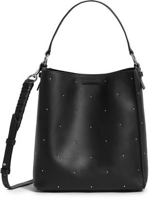 AllSaints Small Kathi Studded North/South Leather Tote