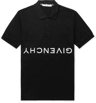 Givenchy Slim-Fit Logo-Embroidered Cotton-Pique Polo Shirt - Men - Black