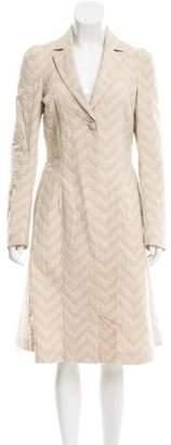 Diane von Furstenberg Spence Chevron Coat