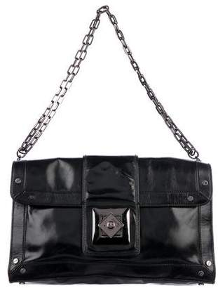 Tory Burch Silk-Blend Chain-Link Shoulder Bag