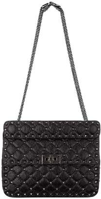 Valentino Medium Leather Rockstud Spike Shoulder Bag