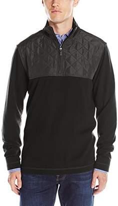Bugatchi Men's Nylon Long Sleeve 1/4 Zip Pullover