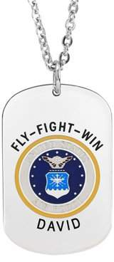 Jay-Aimee Designs Military Air Force Insignia Dog Tag