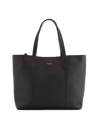 Furla Elle Leather Tote Bag with Detachable Pouch, Onyx $255 thestylecure.com