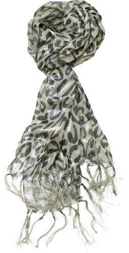 Metallic Leopard Scarf