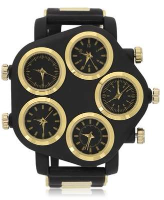 wantyou New Arrivals Five Large Dial Street Punk Hip-Hop Cool Personality Rubber Strap Man Watch