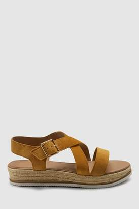 8cbcc7ad73179f Next Womens Ochre Flatform Sandals