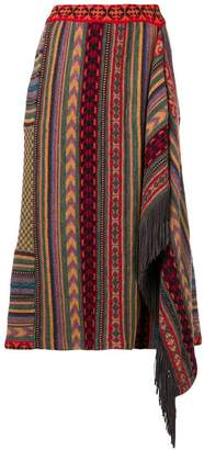 Etro patterned asymmetric skirt