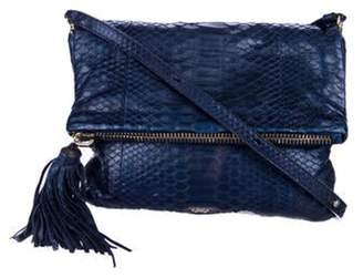 Anya Hindmarch Metallic Python Crossbody Bag Blue Metallic Python Crossbody Bag