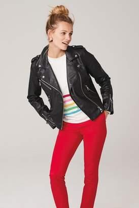 Next Womens Black PU Biker Jacket