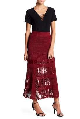 BCBGMAXAZRIA Crochet Skirt