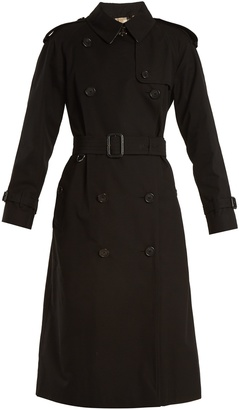 Westminster double-breasted cotton trench coat