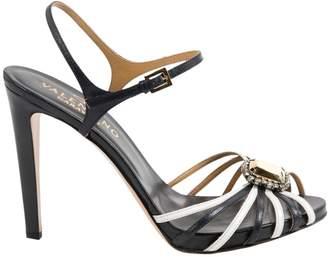 Valentino Navy Leather Sandals