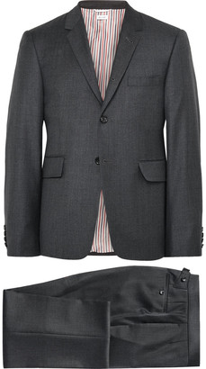 Thom Browne Charcoal Wool Suit $2,500 thestylecure.com