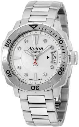 Alpina Women's 38mm Steel Bracelet & Case Swiss Quartz Watch AL-240LSD3V6B
